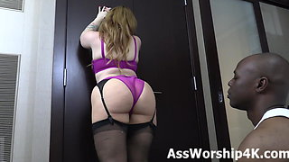 Worshiping Mistress Lily Lane's perfect ass