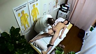 Sweet Japanese girl has a masseur pleasing her tight pussy