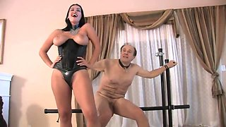 Goddess Megan Jones punish and destroy an old slave