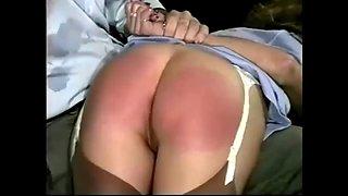 Retro Milf Spanking Fetish Porn Video