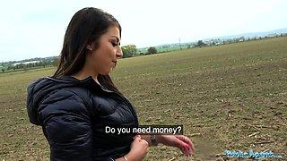 Public Agent Tight busty minx Czech pussy fucked