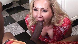 Blonde Lisa DeMarco Makes Flowers and Black Cocks Grow Big