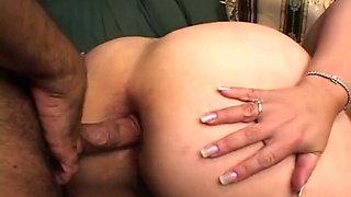 Grandma Prepares her Big Chubby Ass for Anal