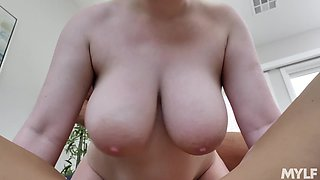 Awesome curvy MILF Emily Addison shares dick for tremendous FFM