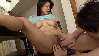 Lactating Asian babe fucked hard