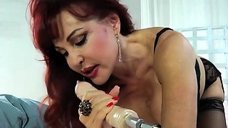 PORNSTARPLATINUM Busty MILF Sexy Vanessa Uses Fuck Machine