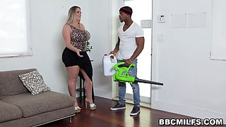 Busty MILF and Teen Stepdaughter Fucked By Black Guy