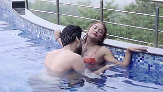 Wife Shilpa fucking hubby & his friend in swimming pool