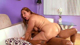 A bit plump hoe with big bubble ass and big tits Vanessa Blake is fucked doggy