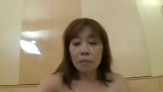 51yr old Shy Granny Nagura acquires Creamed (Uncensored)