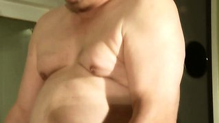 Young horny blonde fucking old man  for cum dessert