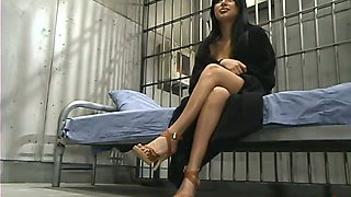 Sativa Rose gets banged by a fucking machine in a jail