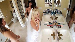 Teen babysitter caught in pool and hot blow job Bridesmaids
