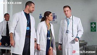 Sexy Doctor Alyssa Reece Takes A Medically Prescribed Huge Fat Cock