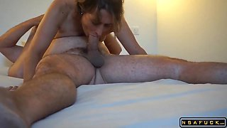 Early morning Christmas fuck with French wife