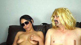 mistress franciele smith fucks her sissy cuckold slave