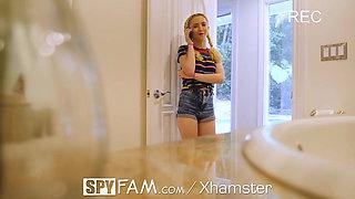 SPYFAM Step Dad Turns On Peeping Horny Pervert