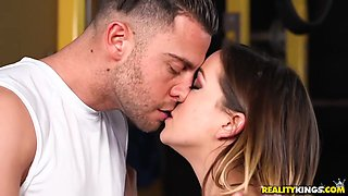 Seth Gamble - Muscular Dude Fucks Curvy Babe In Different Positions