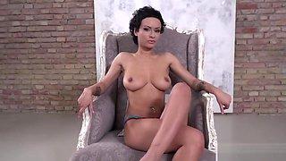 Pornstar Stacy Bloom in her first DP scene