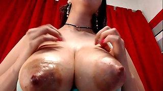 Big milk-filled boobs