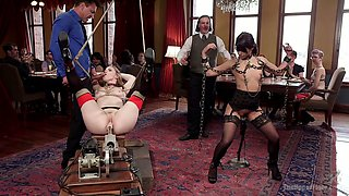 Brazilian chick Gina Valentina gets punished in one private BDSM club