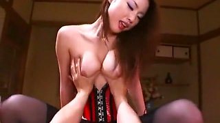 Hottest Japanese slut Risa Kasumi in Incredible Lingerie, POV JAV movie