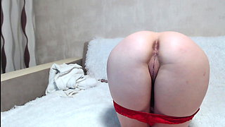 The girl shows her ass and pussy