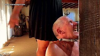 Dominatrix Mistress April - electrified slave