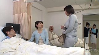 Japanese Aunt visits her nephew in the hospital