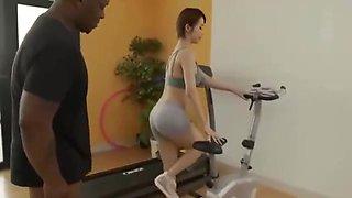Kimijima Mio fucked during exercise