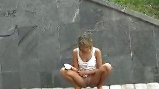 Outdoor pissing rage