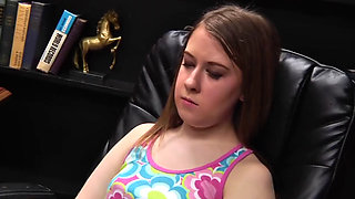 Busy daddy tired teen