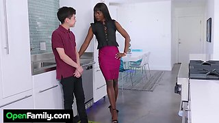 Ana Foxxx Lets Her Son's Friend Try Out The New Panties - NaughtyAmerica