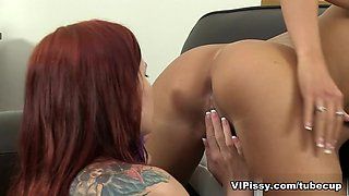 Leila Smith and Lollypop in HD Pissing Video Leila and Lolly
