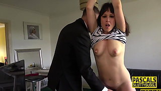 Bound submissive rides Pascal White