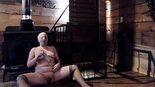 Voluptuous amateur blonde in nylons reveals her kinky side