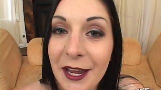 Slut brunette with makeup Renee Pornero needs to be filled with cum
