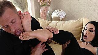 LoveHerFeet - I Offered My Feet And He Made Me Cum