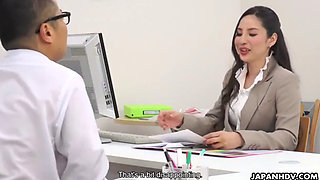 Ai Kamijou Office Bitch Gets A Huge Cock In A Wet Pussy