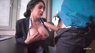 Horny Boss Forced Sexy Secretary Eloa Lombard To Fuck