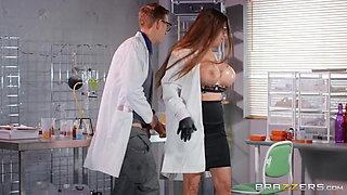 Big tits doctor blowjob