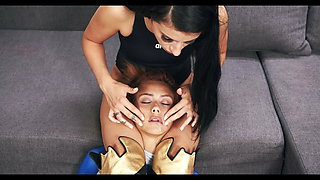 Super Heroes Sex Fight - Nelly Kent defeated Veronica Leal