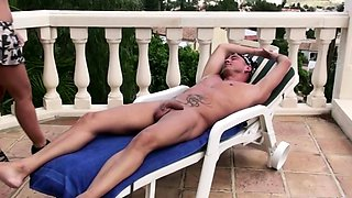 German Mature get Rough Public Assfuck in Holiday at Pool