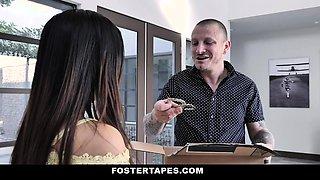 Foster Parents Punish Naughty Asian Teen