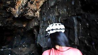Heather Deep public outdoor deepthroat cum swallow
